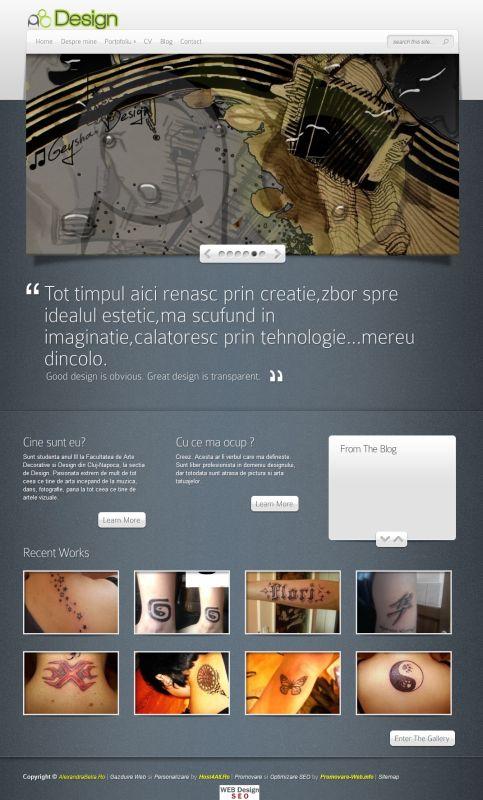Web Design Cluj - Alexandra Bella