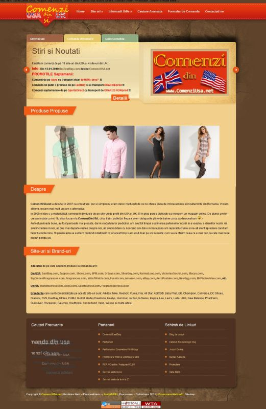 Web Design Cluj - ComenziUSA