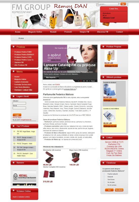Web Design Cluj - Parfum FM