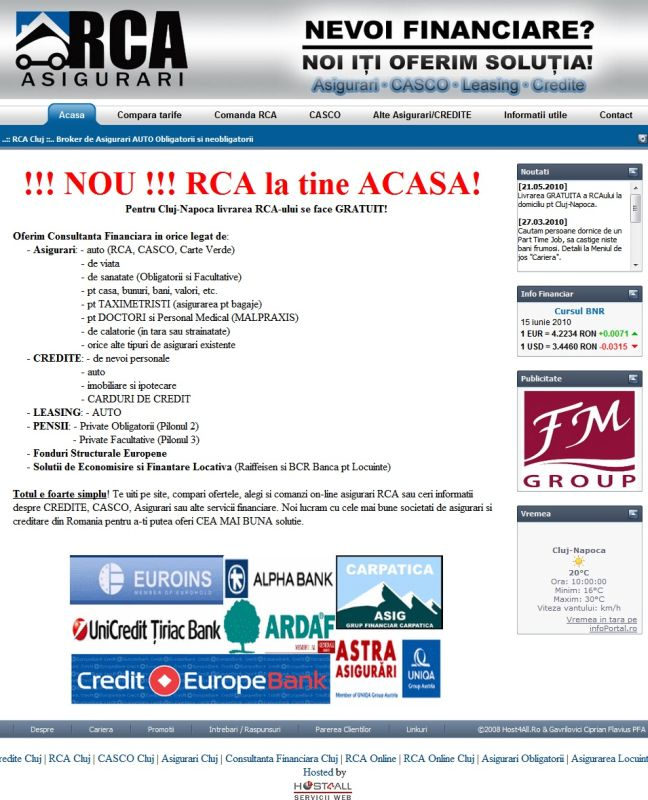 Web Design Cluj - RCA Cluj