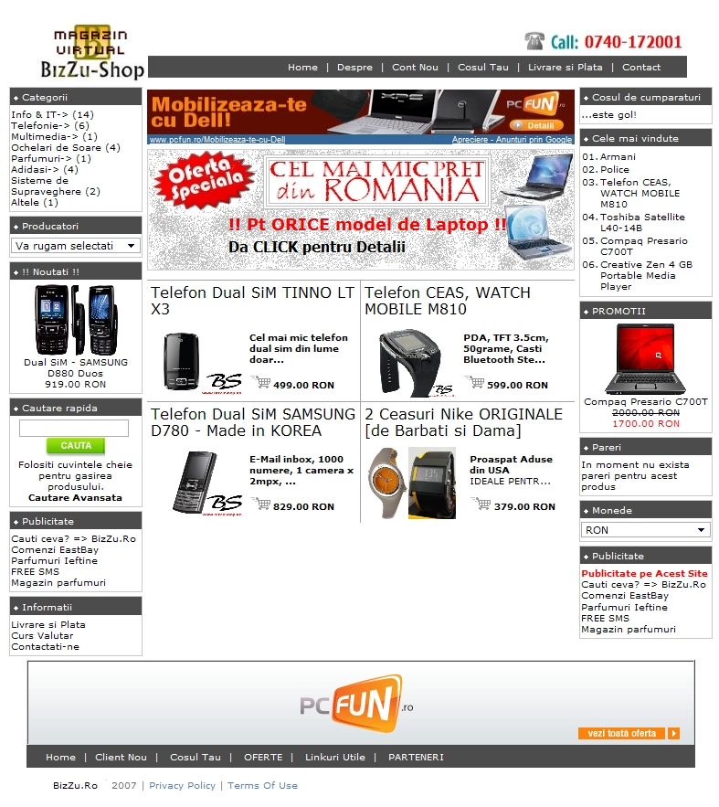Web Design Cluj - BizZu Shop