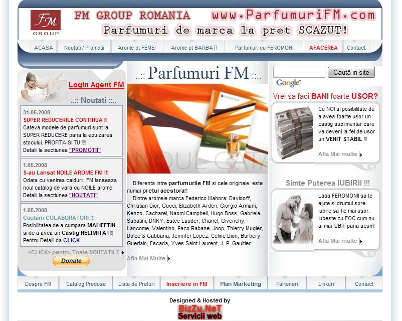 Web Design Cluj - Parfumuri FM