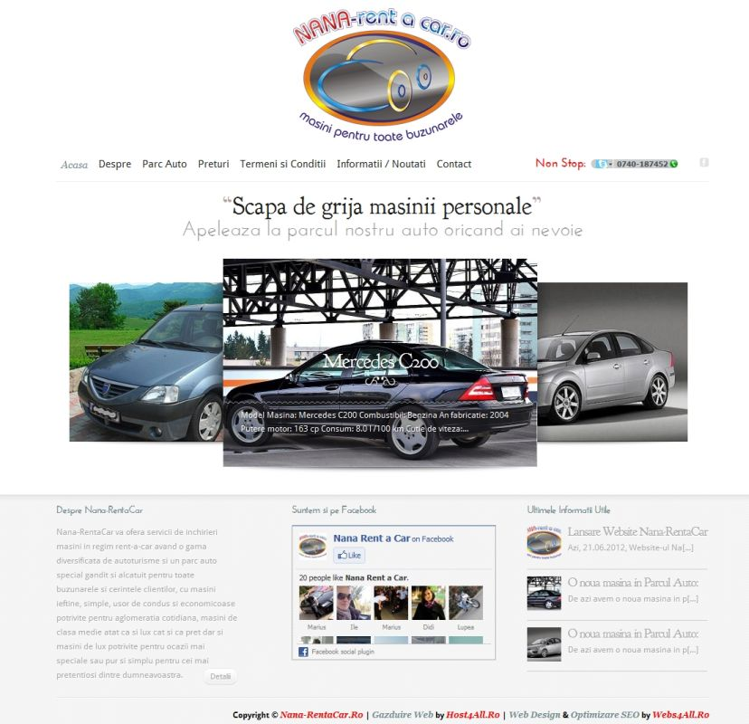 Web Design Cluj - Nana Rent a Car