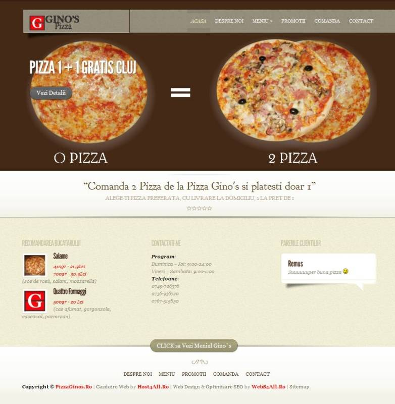 Web Design Cluj - Pizza Cluj